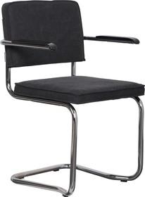 Fotel RIDGE KINK VINTAGE czarny  Wymiary: 60x48x85 cm  Materiał: Rama wykonana z metalu, polerowana i wygięta; podłokietniki wykonano z bakelitu....