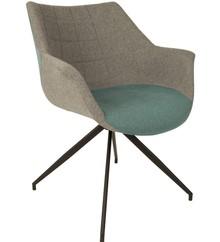 Fotel DOULTON - niebieski
