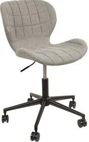 Krzesło biurowe OMGszare  Funkcje: Regulowana wysokość Krzesło obrotowe  Materiał: Metalowa rama w kolorze czarnym, siedzisko w kolorze...