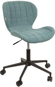 Krzesło biurowe OMGniebieskie  Funkcje: Regulowana wysokość Krzesło obrotowe  Materiał: Metalowa rama w kolorze czarnym, siedzenie w kolorze...