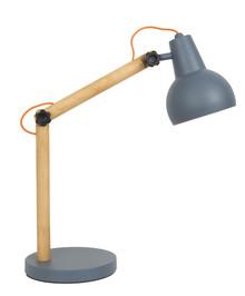 Lampa biurkowa STUDY w kolorze ciemnoszarym. Rama wykonana z litego drewna dębowego, abażuri podstawa metalowa lakierowana.  Wymiar...