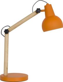 Lampa biurkowa STUDY w kolorze pomarańczowym. Rama wykonana z litego drewna dębowego, abażuri podstawa metalowa lakierowana.  Wymiar...