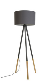 Lampa podłogowaHIGHLAND marki Zuiver.  Materiał: Podstawa wykonana z trzech zaokrąglonych,metalowychnóg z wykończeniem w drewnie...