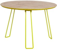 Stolik OSB L żółty