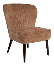 Fotel SMOKER w kolorze beżowym  Materiał: Obicie wykonane ze sztruksu (20% len, 57% wiskoza, 15% bawełna). Nogi wykonane z litego drewna dębowego....