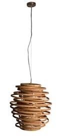 Lampa KUBU marki Dutchbone wykonana z naturalnego rattanu gatunku Kubu wygląda prosto i niepretensjonalnie. Ale kiedy w środku zapala się świetlówka,...