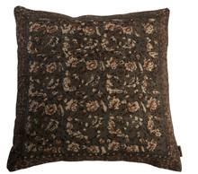 Poduszka bawełniana INDIAN BLOCK z malowanymi metodą blokową wzorami.  Wymiary: 50x50x15 cm  Materiał: Poszewka 100% bawełna, wypełnienie 100%...