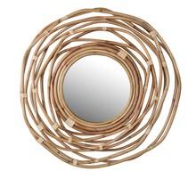 Lustro KUBU zostało ręcznie wykonane z rattanu.  Wymiary 3.2 x 75 x 75 cm  Uwaga: Każde lustro może różnić się od siebie kształtem i...
