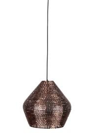 Błyszczące lampy Cooper stworzony zostały z setek małych miedzianych łusek, które dodatkowo przebarwiono w gorącej temperaturze.  Miedziane łuski...