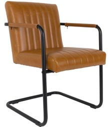 Fotel STITCHED - brązowy
