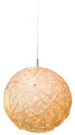 Lampa wisząca Kyoto jest wykonana ze sklejki bambusa, koloru jasnożółtego. Okrągły kształt lampy i materiał,z którego jest wykonana...