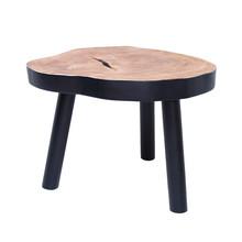 Stolik w kształcie pnia drewna L czarny