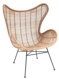 Fotel rattanowy EGG - naturalny