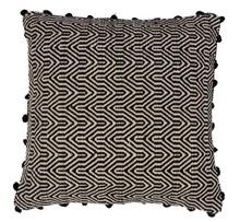 Poduszka ZIGGY czarna  Materiał: Poszewka ręcznie tkana, 100% bawełna Wypełnienie z włókna poliestrowego Wymiary: 50 x 50 cm