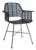 Krzesło rattanowe ze stelażem czarne Produkt wykonany jest z naturalnych materiałów (rattan) co sprawia, że jest mniej odporny na uszkodzenia...