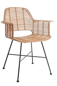 Krzesło rattanowe TUB - naturalne