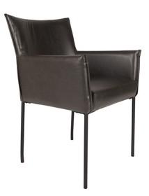 Fotel DION czarny  Materiał: Vintage PU-skóra w kolorze czarnym Czarna malowana proszkowo rama stalowa Wymiary: 59x64x86,5 cm (SxGxW) Wysokość...
