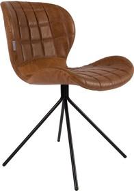 Skórzane krzesło OMG w kolorze brązowym. Zarówno siedzenie jak i oparcie zostały wyprofilowane tak, żeby nawet przez długi pracy czas zapewniać...