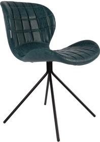 Skórzane krzesło OMG w kolorze niebieskim. Zarówno siedzenie jak i oparcie zostały wyprofilowane tak, żeby nawet przez długi pracy czas zapewniać...
