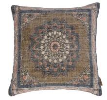 Poduszka RURAL  Wymiary: 50x50cm  Materiał: pokrycie ręcznie tkany z nadrukiem, 100% bawełna Wypełnienie: 100% poliester