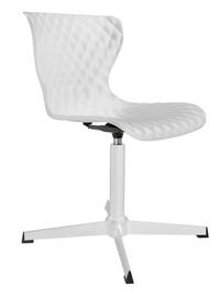 Krzesło CROW białe na obrotowej podstawie  Materiał: Siedzisko: tworzywo sztuczne, Rama: metalowa malowana proszkowo Podstawa: biały metal...