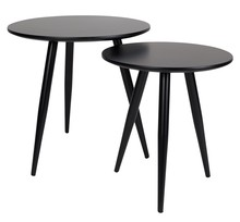 Zestaw stolików DAVEN - czarny
