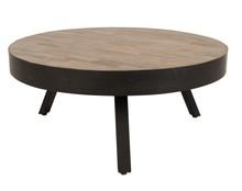 Stolik SURI duży  Materiał: blat wykonany z drewna teakowego pochodzącego z recyklingu, umieszczony na stalowej ramie malowanej w kolorze czarnym ...