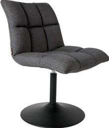 Krzesło obrotowe MINI BAR - ciemnoszare