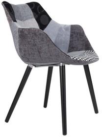 Krzesło TWELVE PATCHWORK - szare