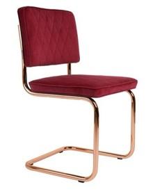 Designerskie krzesło Diamond w czerwonej tkaninie kultowego producenta Zuiver to krzesło stworzone do nowoczesnych wnętrz.  Materiał: Tapicerka:...