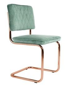 Krzesło DIAMOND zielone  Wymiary: 48x48x85 cm Materiał: 100% poliester, Chromowana rama. Wysokość siedzenia: 48 Maksymalne obiążenie: 120 Waga: 6.4