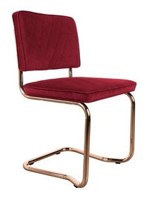 Krzesło DIAMOND KINK czerwoneWymiary: 48x48x85 cmMateriał: 100% poliesterKolor: czerwonyMateriał: 100% polyester. Chromowana rama., Fabric: 100%...