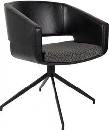 Fotel BEAU czarny, marki Zuiver sprawdzi się zarówno w domu, w biurze, sali konferencyjnej, a nawet w salonie.  Materiały: Rama: sklejka Poszycie: PU...