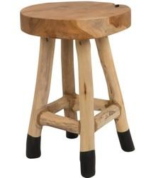 Stołek HARRY  Materiał: stołek wykonany z litego drewna tekowego, naturalne wykończenie Maksymalne obciążenie: 100 kg Wymiary: 30 x 42 cm (Ø x wys)