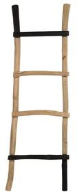 Drabina HARRY  Materiał: Drewno tekowe  Maksymalne obciążenie waga: 20 kg Wymiary: 50x9x151 cm (SxGxW)