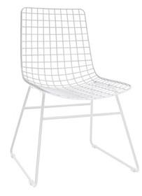 Krzesło metalowe WIRE - białe