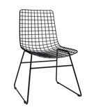 Krzesło metalowe WIRE czarne Wymiary: 47x54x86cm Wysokość oparcia: 44cm