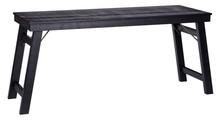 Biurko drewniane KLAP ROUGH - czarne