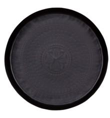Taca metalowa czarna  Wymiary:  - Wysokość: 6 cm - Szerokość: 44 cm - Głębokość: 44 cm  Materiał:  - metal