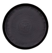 Taca metalowa czarna 30cm