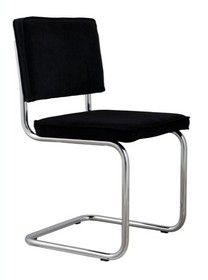 Krzesło RIDGE RIB czarne 7A  Materiał: Obicie krzesła wykonane z tkaniny, 88% nylon, 12% poliester Rama krzesła - chrom szczotkowany Chromowane ramki z...
