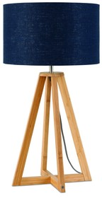 Nowa kolekcja GOOD&MOJO marki It's about ROMILampa stołowa Everest 4-nożna 34cm w kolorze blue denimWymiary abażura: 32x20cmMateriał: lenKolor:...