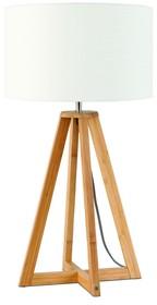 Nowa kolekcja GOOD&MOJO marki It's about ROMILampa stołowa Everest 4-nożna 34cm w kolorze białymWymiar abażura: 32x20cmMateriał: lenKolor:...
