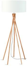 Nowa kolekcja GOOD&MOJO marki It's about ROMILampa podłogowa Kilimanjaro bambus 129cm w kolorze białymWymiary abażura: 60x30cmMateriał: len/...