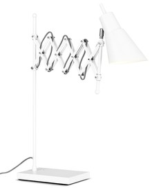 Lampa stołowa Oxford biała 64x28-60cm