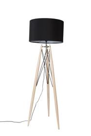 Lampa podłogowa EIFFEL czarna  Materiał: lita sosna,Powłoka tekstylna z rzepem. Solidna podstawa z drewna sosnowego, lakierowana na naturalny...