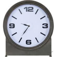 Metalowy zegar AGELESS czarny  Wymiary:  - Wysokość: 41 cm - Szerokość: 37 cm - Głębokość: 11 cm  Materiał:  - żelazo