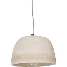 Lampa wisząca DAWN CARVED EDGE OFF biała  Wymiary:  - Wysokość: 30 cm - Szerokość: 25 cm - Głębokość: 25 cm  Materiał:  - żywica, papier,...