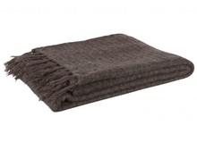 Narzuta WAFFLE szaro/brązowa  Wymiary:  - 130x170 cm  Materiał:  - 20% wełna owcza - 60% akryl - 20% nylon