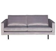 Sofa RODEO - aksamitna jasnoszara